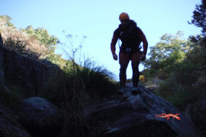 aventuvera Cáceres descenso de barrancos por la mañana