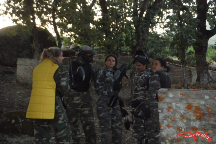 aventuvera partida de paintball