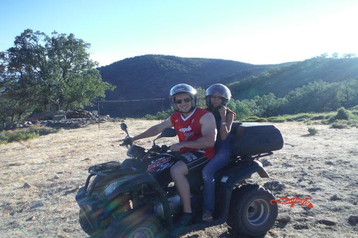 aventuvera plan quad en el norte de Cáceres